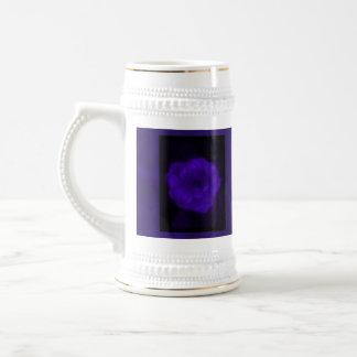 Purple Rose. With Black and Dark Purple. Beer Stein