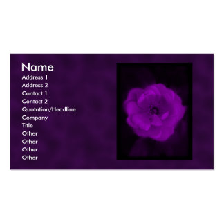 Purple Rose. With Black and Dark Purple. Business Card Templates