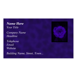 Purple Rose. With Black and Dark Purple. Business Card Template