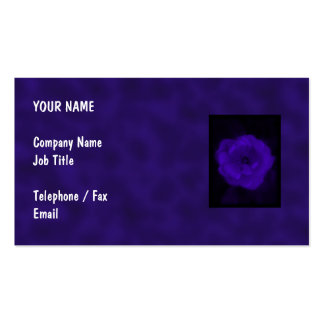Purple Rose. With Black and Dark Purple. Double-Sided Standard Business Cards (Pack Of 100)