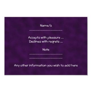 Purple Rose. With Black and Dark Purple. Card