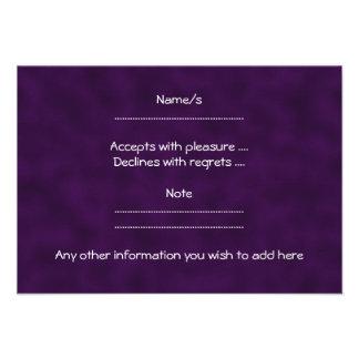 Purple Rose. With Black and Dark Purple. Personalized Invitations