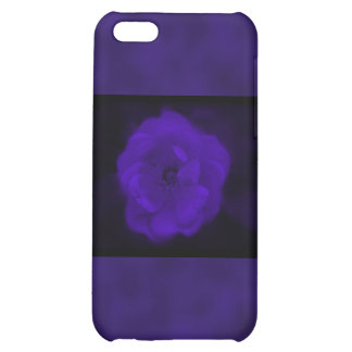 Purple Rose. With Black and Dark Purple. iPhone 5C Cover