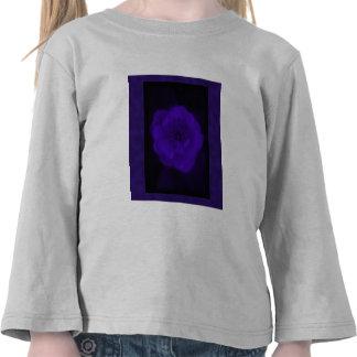 Purple Rose. With Black and Dark Purple. T Shirt