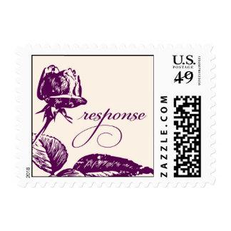 Purple Rosebud Response stamp