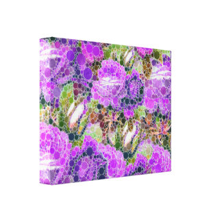 Purple Roses Abstract Pattern Canvas Print