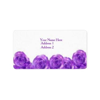 Purple Roses Address Labels