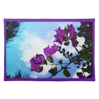 Purple Roses and a Clear Blue Sky Cloth Placemat