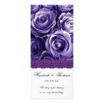 PURPLE ROSES and PURPLE LACE Wedding Program v2 Customized Rack Card