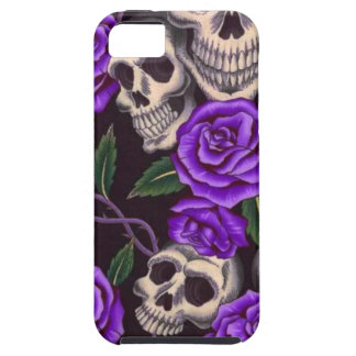 Purple Roses and skulls iPhone SE/5/5s Case