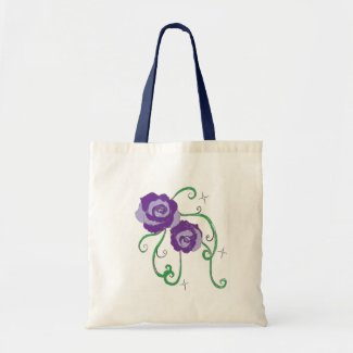 Purple Roses Canvas Bags