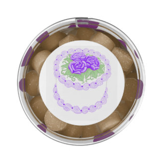 Purple Roses Birthday Cake Gum Party Favors