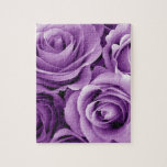 Purple Roses Bouquet Gift Item for Her Puzzle
