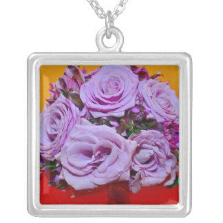 Purple roses bouquet jewelry