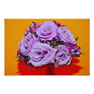 Purple roses bouquet photo art