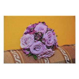 Purple roses bouquet art photo