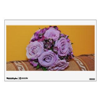 Purple roses bouquet room sticker