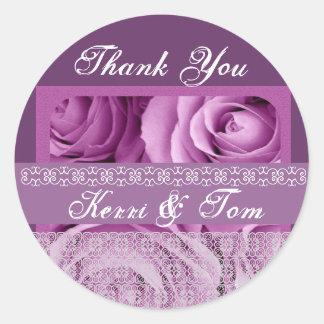 PURPLE Roses - Bride and Groom Wedding Sticker