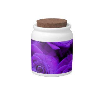 Purple  roses candy jars