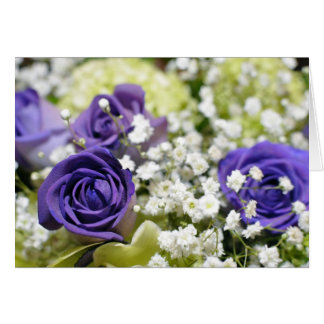 Purple Roses Card