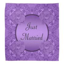 Purple Roses Collage Polka Dot Frame Wedding Bandana