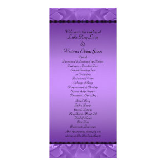Purple Roses Collage Polka Dot Frame Wedding Rack Card