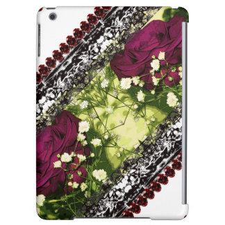 Purple Roses CricketDiane Rose Goth Victorian Lacy Cover For iPad Air