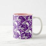 Purple Roses Design Mug