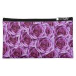 Purple Roses Design Wristlet Bag