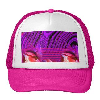 Purple roses dream trucker hat