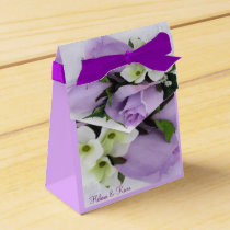 Purple Roses Favor Box