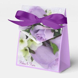 Purple Roses Favor Box