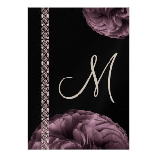 Purple Roses & Lace Wedding Announcements