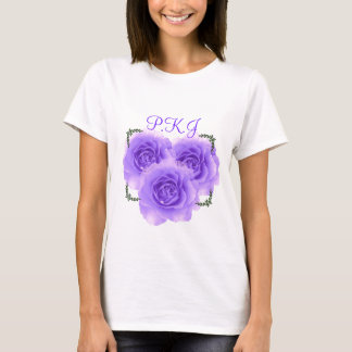 Purple Roses Monogram Tshirt