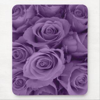 purple roses mouse pad