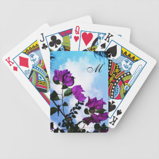 Purple Roses Nature Photo Collection Bicycle Playing Cards