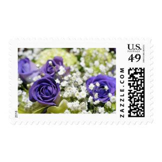 Purple Roses Postage Stamp