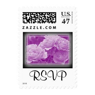 Purple Roses RSVP Stamp