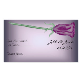Purple Roses Seating Cards
