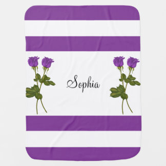 Purple Roses Swaddle Blanket