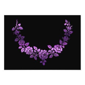 Purple roses swag 5x7 paper invitation card