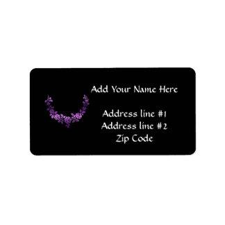 Purple roses swag address label