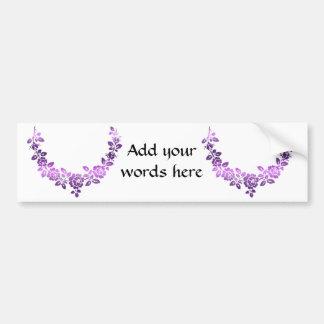 Purple roses swag bumper stickers