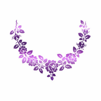 Purple roses swag photo cut out