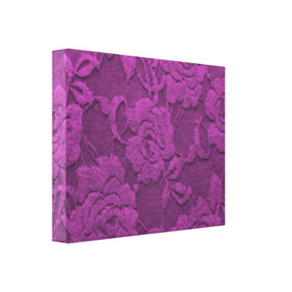 Purple Roses Textured Canvas Print