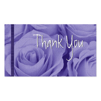 PURPLE Roses Thank You Wedding Card Business Cards