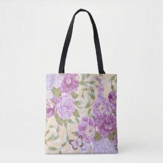 Purple Roses Tote Bag