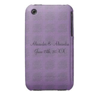 Purple roses wedding favors Case-Mate iPhone 3 cases