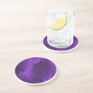Purple Round Sandstone Coaster