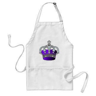 Purple Royal Crown Adult Apron